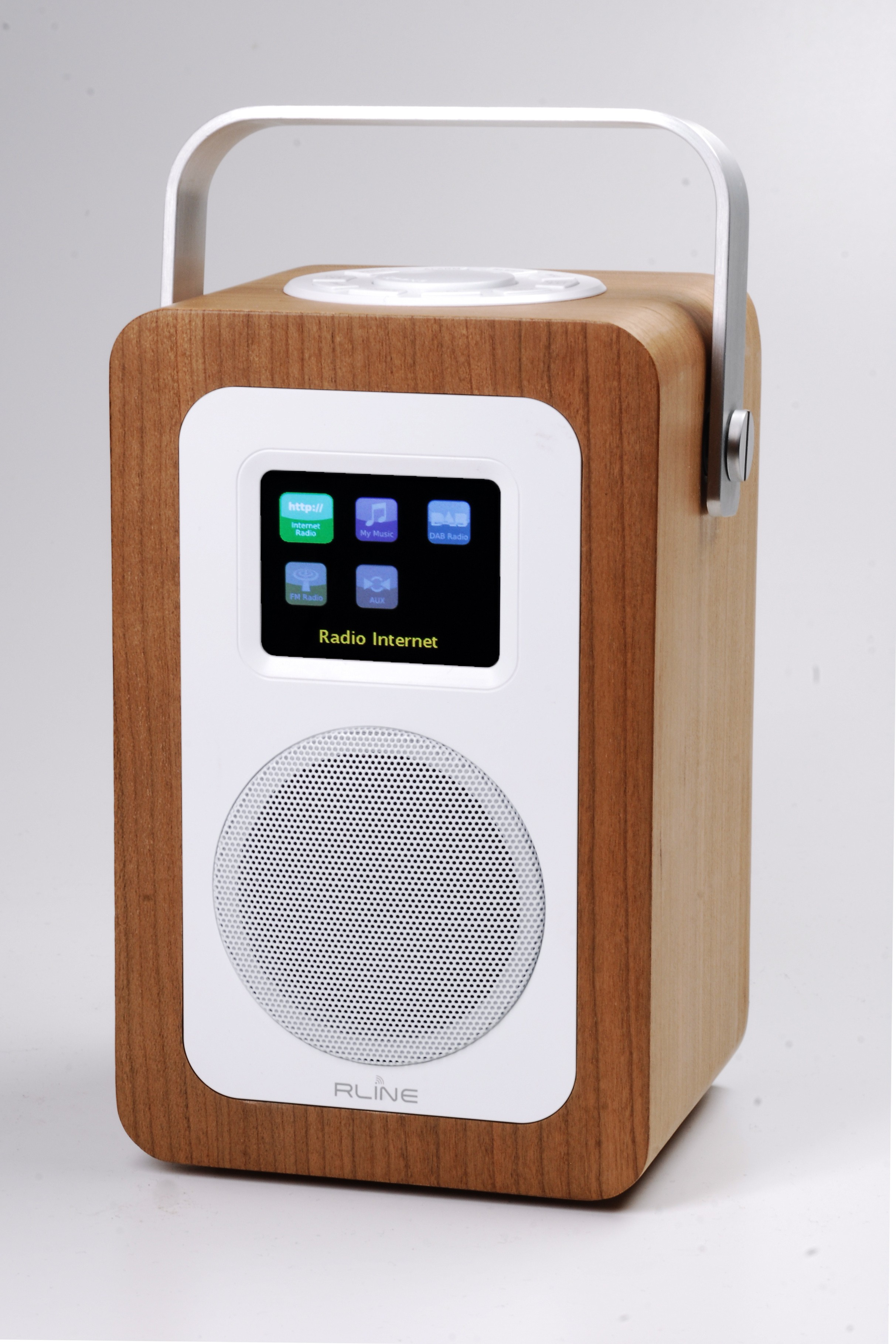 Digital Radio Red Line Dab Play R1 Bt50a Wood Cherry