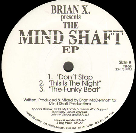 Brian X - The Mind Shaft EP