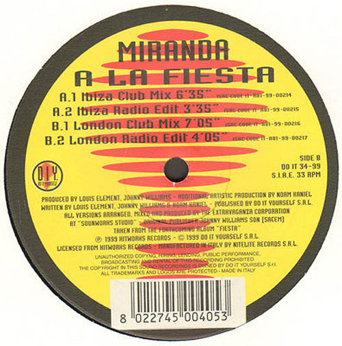 Miranda a la fiesta do it yourself vinyl 12 inch do it 34 99 miranda a la fiesta solutioingenieria Images