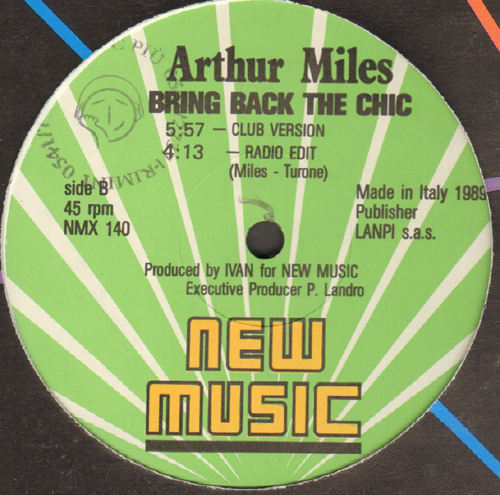 ARTHUR MILES - Bring Back The Chic