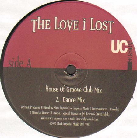 Mark Imperial The Love I Lost Remixes Rick Garcia Angel Alanis Lego Rmxs Underground Construction 2xvinyl 12 Inch Uc 285