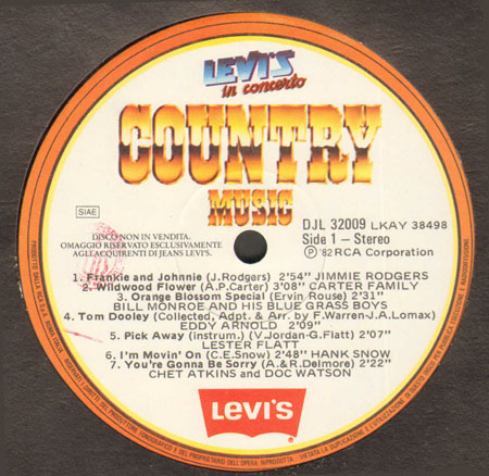 VARIOUS (JIMMIE RODGER,CARTER FAMILY,DON GIBSON,DOLLY PARTON...) - Levi's In Concerto (Country Music)