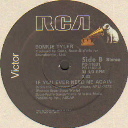 BONNIE TYLER - Married Men / If You Ever Need Me Again