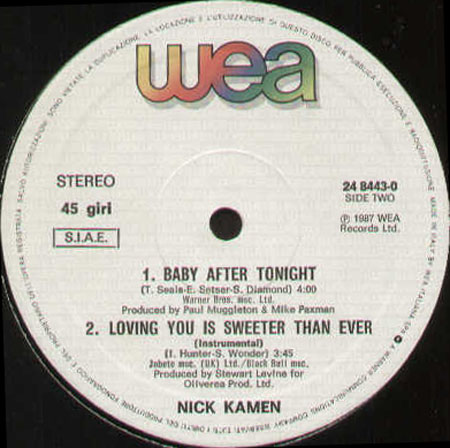NICK KAMEN - Loving You Is Sweeter Than Ever
