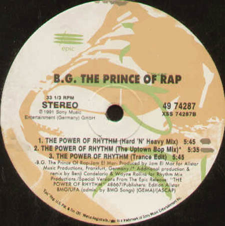 B.G. The Prince Of Rap - The Power Of Rhythm (Benji Candelario, Joey Beltram Rmxs)