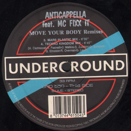 ANTICAPPELLA FEAT. MC FIXX IT - Move Your Body (Remixes)