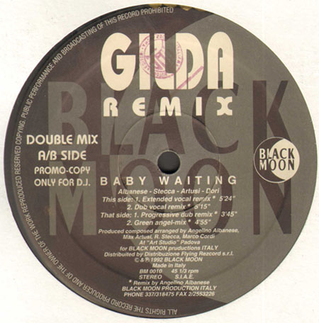 GILDA - Baby Waiting Remix (ONLY A/B SIDE)