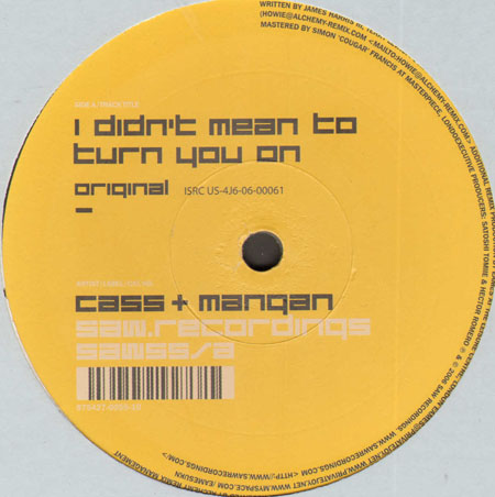 CASS & MANGAN - I Didn't Mean To Turn You On