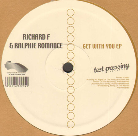 RICHARD F. & RALPHIE ROMANCE - Get With You EP
