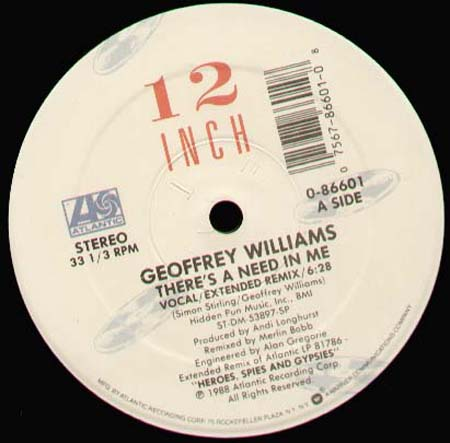 GEOFFREY WILLIAMS - There's A Need In Me