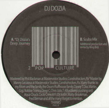 DJ DOZIA Pop Culture #2 Ovum Vinyl 12 Inch OVM111