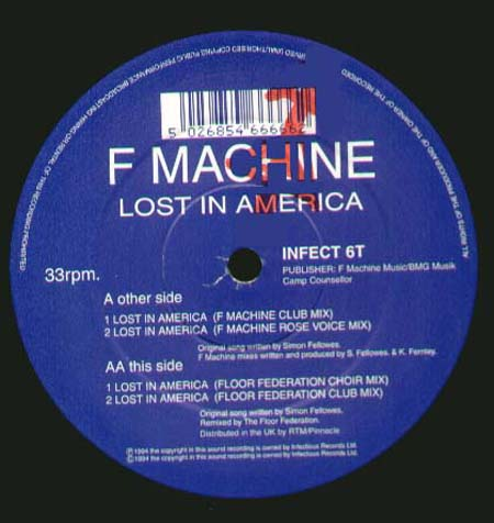 F MACHINE - Lost In America (Floor Federation Mixes)