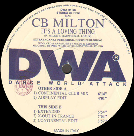 CB MILTON - It's A Loving Thing