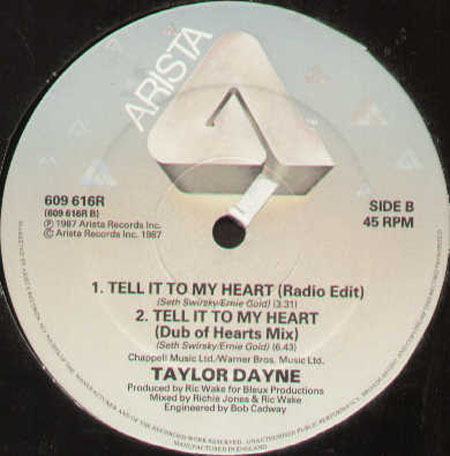 TAYLOR DAYNE - Tell It To My Heart (House Of Hearts Mix)
