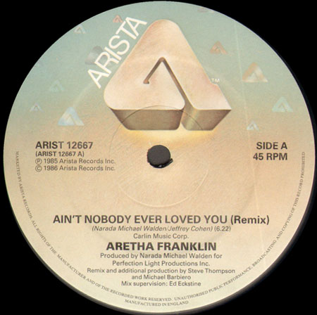 ARETHA FRANKLIN - Ain't Nobody Ever Loved You (Steve Thompson rmx)