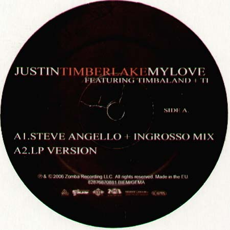 Love Justin Timberlake on Justin Timberlake   My Love  Feat  Timbaland Ti  Quentin Harris  Dfa