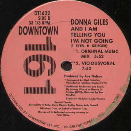 Donna Giles - And I'm Telling You (I'm Not Going)