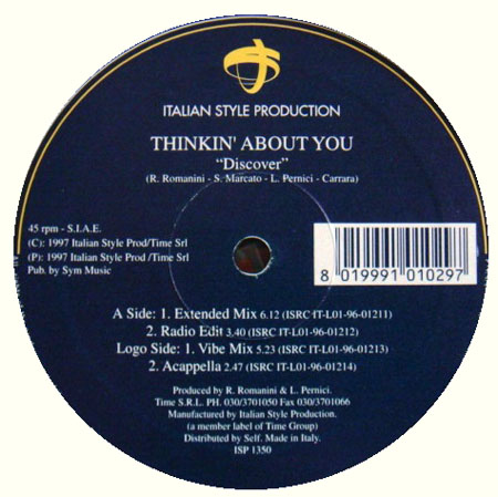 DISCOVER  - Thinkin' About You