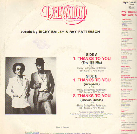 Delegation - Thanks To You (The '88 Mix)