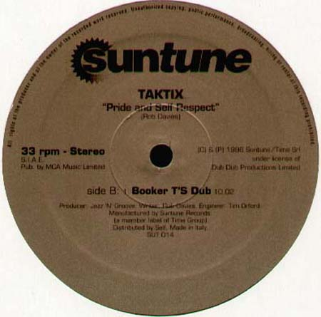 Tak Tix Pride And Self Respect Suntune Vinyl 12 Inch Sut 014