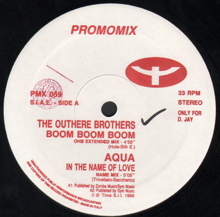 VARIOUS (THE OUTHERE BROTHERS / AQUA / ARGONAUTS / COPERNICO) - Promo Mix 59 (Boom Boom Boom / In The Name Of Love / Virtual Dreams / I Believe)