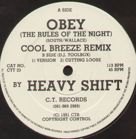 HEAVY SHIFT - Obey (The Rules Of The Night) Cool Breeze Remix