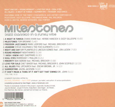 VARIOUS - Milestones - Jazz Classics In A Funky Vibe