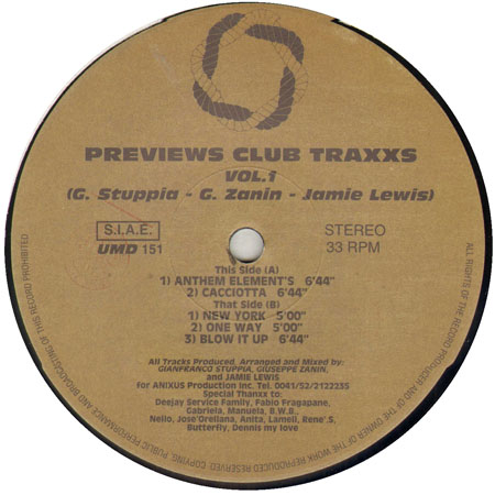 The Anixus Previews Club Traxxs Vol. 1