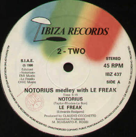 2 TWO - NOTORIUS medley with LE FREAK