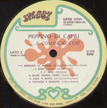 PEPPINO DI CAPRI - E Comincio' Cosi' - LP