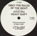 HEAVY SHIFT - Obey (The Rules Of The Night)