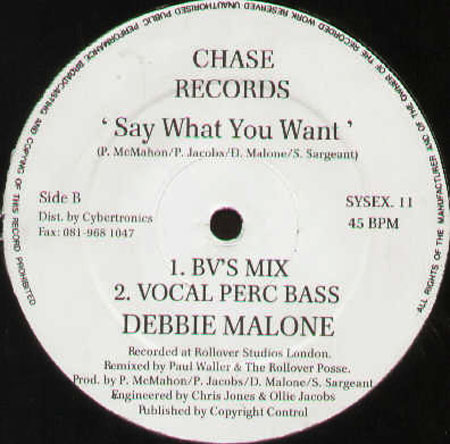 DEBBIE MALONE - Say What You Want