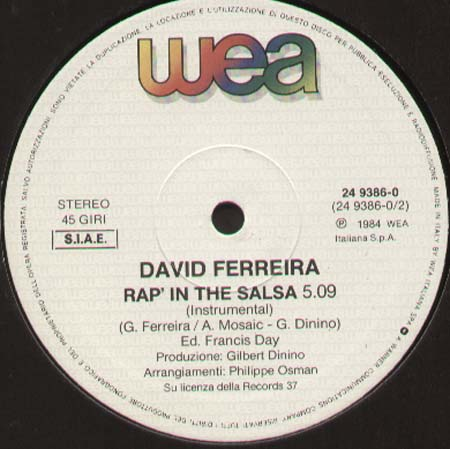 DAVID FERREIRA - Rap' In The Salsa