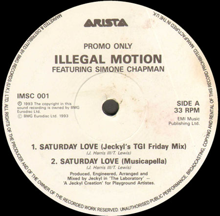 ILLEGAL MOTION,FT.SIMONE CHAPMAN - Saturday love