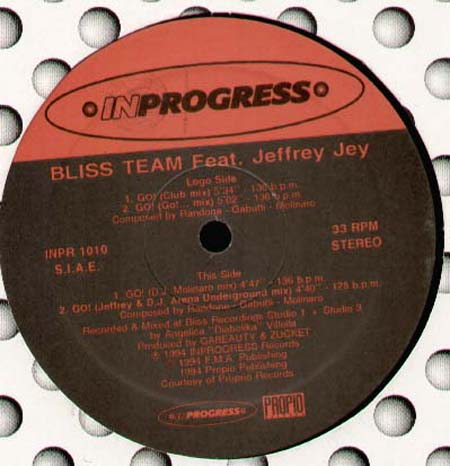BLISS TEAM GO !, Feat. Jeffrey Jey  (DJ Molinaro, Jeffrey & DJ Arena Mixes)