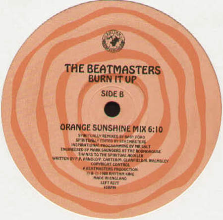 THE BEATMASTERS - Burn It Up (Baby Ford rmx)