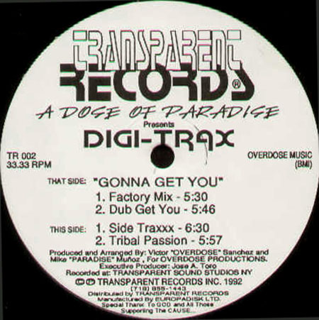 A DOSE OF PARADISE - Gonna Get You - Presents Digi-Trax