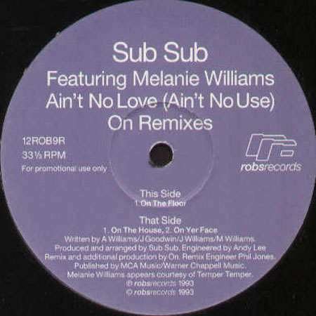 SUB SUB - Ain't No Love (Ain't No Use) (On Remixes) - Feat. Melanie Williams