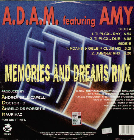 A.D.A.M. FEATURING AMY - Memories And Dreams  (Tipical rmx)