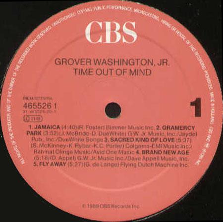 Grover Washington Jr Time Out Of Mind Columbia Vinyl Lp