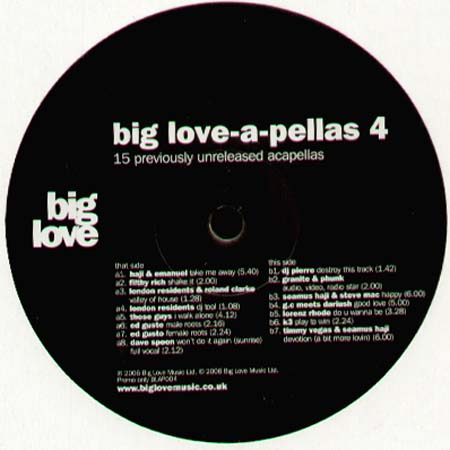 VARIOUS - Big Love-A-Pellas 4