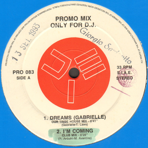 VARIOUS (GABRIELLE / PAGANY / NEON LIGHT FEAT. AFRICAN POWER / MICHELLE GAYLE) - Promo Mix 83 (Dreams / I'm Coming / Zi-Pompa Pompa / Looking Up)