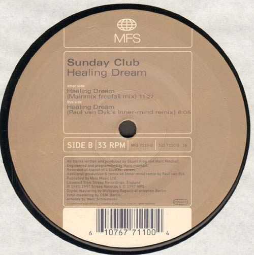 SUNDAY CLUB - Healing Dream