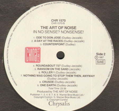 Art Of Noise In No Sense Nonsense China Records Vinyl Lp