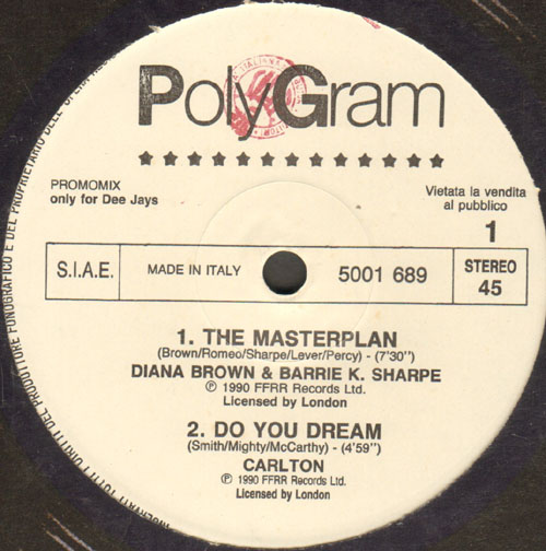 VARIOUS (DIANA BROWN & BARRIE K. SHARPE / CARLTON / SATOSHI TOMIIE) - The Masterplan / Do You Dream / And I Loved You