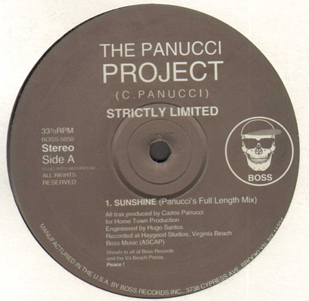 THE PANUCCI PROJECT - Sunshine EP