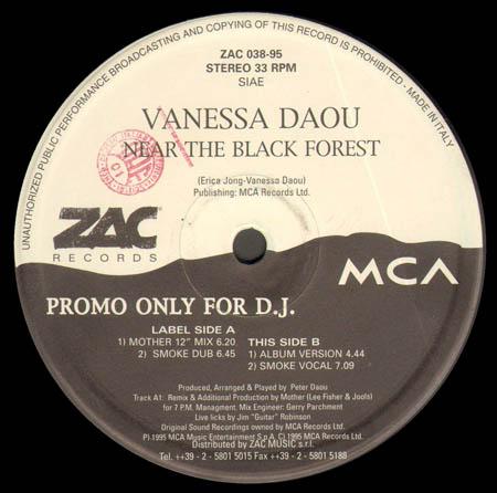 VANESSA DAOU Near The Black Forest Zac Vinyl 12 Inch ZAC 038-95