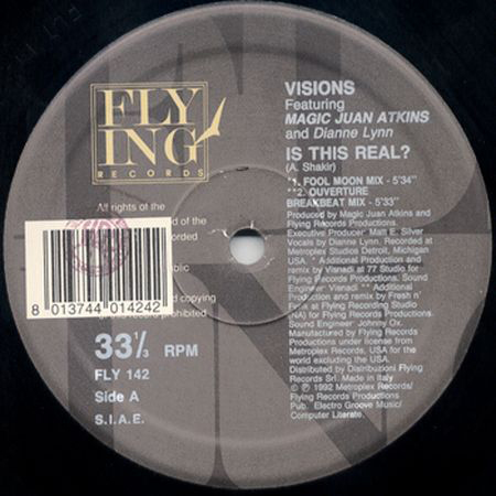 VISIONS - Is This Real?, Feat. Dianne Lynn , Magic Juan Atkins