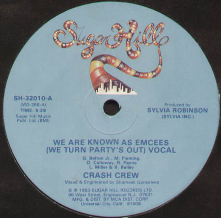 CRASH CREW - We Are Known As Emcees (We Turn Party's Out)