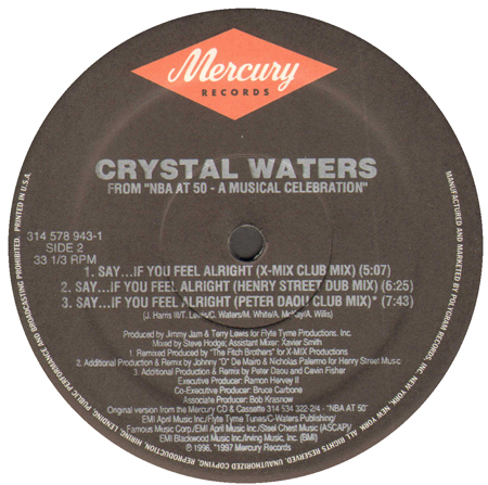 CRYSTAL WATERS - Say...If You Feel Alright